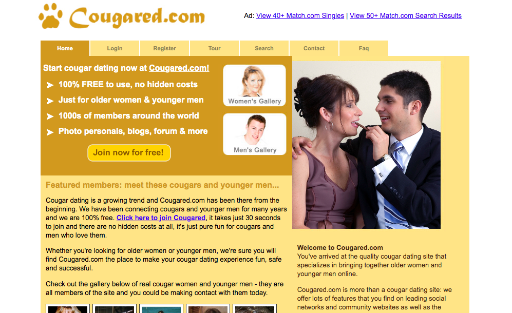 main page Cougared