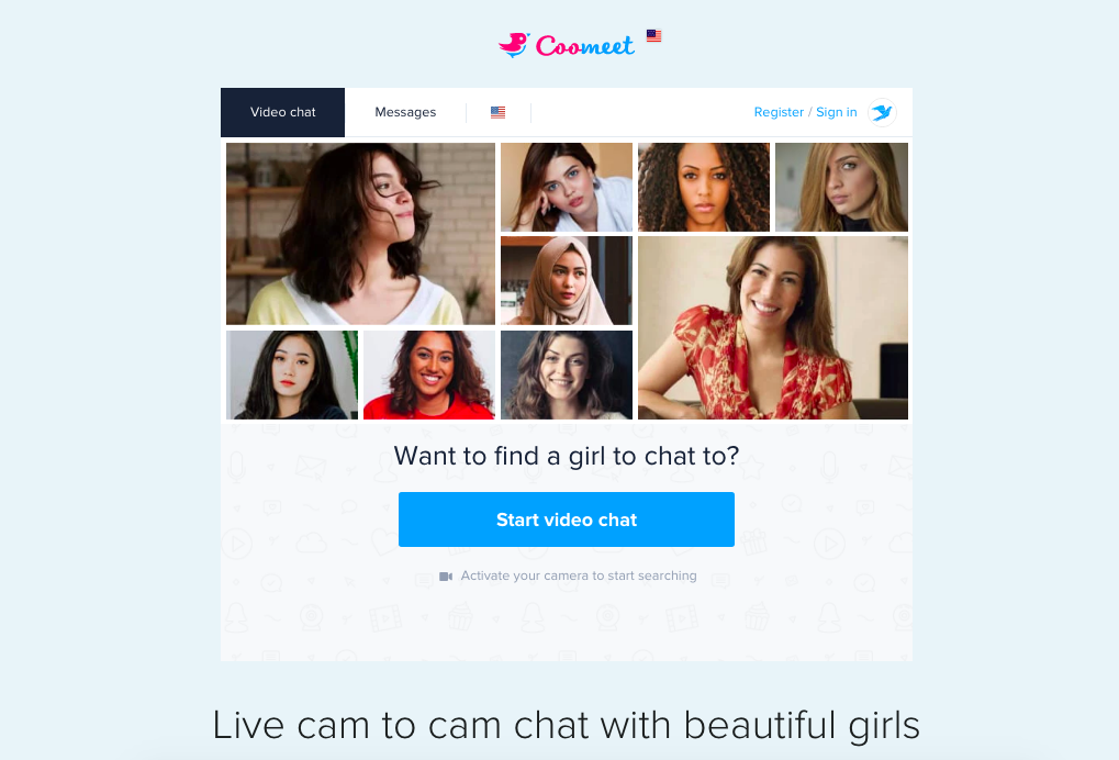 start video chat Coomeet